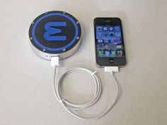 Use your drink to charge your phone via this stirling engine in a coaster: Epiphany onE Puck
