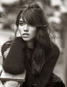 "Vogue Paris (sept 2014) ~ ""Paris en Douce"" : Grace Hartzel by Lachlan Bailey; styled by Geraldine Saglio"