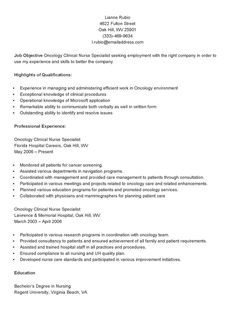 project manager trainee resume sample resume samples resame pinterest - Sample Clinical Nurse Specialist Resume
