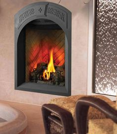 Direct Vent Fireplace For A Small Space  Small Gas Fireplace Insert