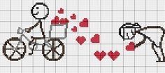 This Pin was discovered by Arz Cross Stitch Pillow, Cross Stitch Heart, Cross Stitch Designs, Cross Stitch Patterns, Cross Stitching, Cross Stitch Embroidery, Pixel Art Templates, Yarn Painting, Wedding Cross Stitch