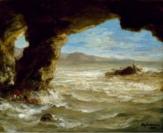 """Shipwreck on the Coast"", 1862, Eugène Delacroix #Magarte #historiadelarte #romanticismo #eugenedelacroix #pinturaalaceite #arthistory #painting 349/365"