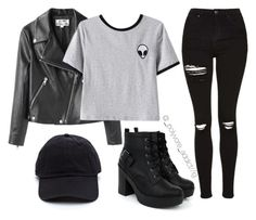 """Untitled #640"" by ariana-baldwin ❤ liked on Polyvore featuring Acne Studios, Chicnova Fashion and Topshop"