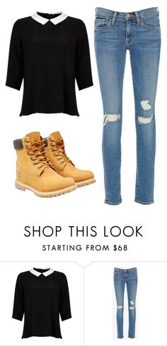"""""""The classier side"""" by daniellecoferrockslol on Polyvore featuring Lipsy, Frame Denim, Timberland, women's clothing, women, female, woman, misses and juniors"""