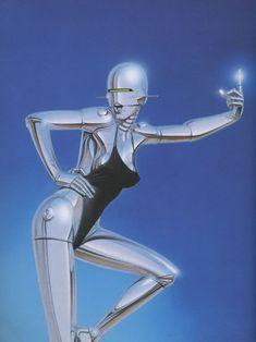 Hajime Sorayama s Super Realistic Retro-Futuristic World Trendland Arte Hip Hop, Arte Robot, Drawn Art, Arte Obscura, Futuristic Art, Doja Cat, Retro Art, Psychedelic Art, Aesthetic Art