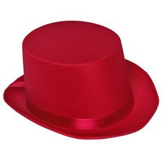 Deluxe Satin Hot Pink Top Hat : Hats a lot of styles & colors