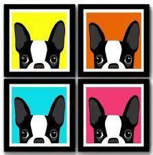 Discover The French Bulldog Puppies Health Dog Pop Art, Dog Art, Arte Pop, Bulldogs, Boston Terrier Art, Pop Art Decor, Abstract Wall Art, Art Forms, French Bulldog