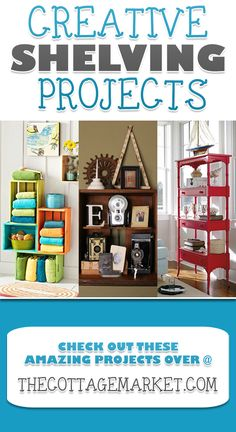 Looking for some cool and creative shelving projects? You are in the right place.from row boats to ladders there is a collection of unique shelving ideas Furniture Projects, Home Projects, Home Furniture, Furniture Design, Trendy Furniture, Ideias Diy, Home Organization, Organizing, Decoration