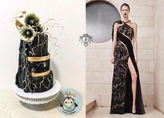 Black and Gold beauty couture cakers international collaboration 2018 by Lusie Lioe