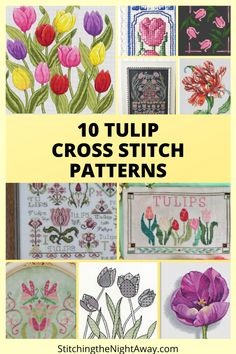 Parrot Tulips, Purple Tulips, Cross Stitch Bookmarks, Cross Stitch Patterns, My Favorite Part, My Favorite Things, Bothy Threads, Mill Hill Beads, Petal Pushers