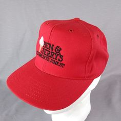0e264d4ef0955 Red Snap Back Trucker Style Hat. Black  White  Tan embroidered logo with ice