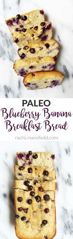 Paleo Blueberry Banana Breakfast Bread