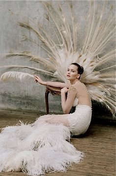 Jennifer Lawrence, by Tim Walker. If I was thin and gorgeous I would love this.  She wears it beautifully.GO GIRL
