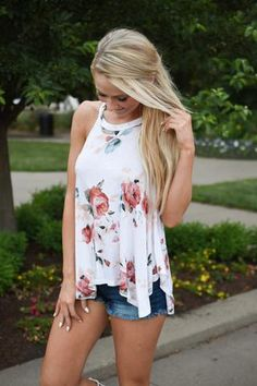 Without a Doubt ~ Floral Tank Top