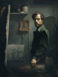David Leffel (b 1931). Self-Portrait.