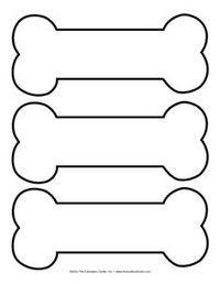 dog bone template printable - Google Search