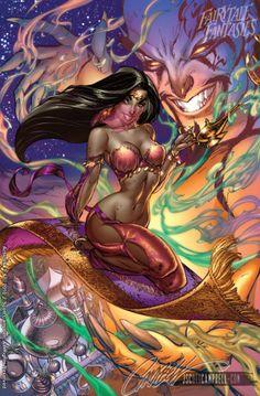 J. Scott Campbell Art Gallery | ... Arabian Nights Fairy Tale Fantasies, J. Scott Campbell Art Gallery