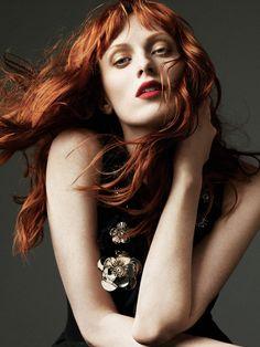 ☆ Karen Elson | Photography by Alexi Lubomirski | For Harper's Bazaar Magazine…