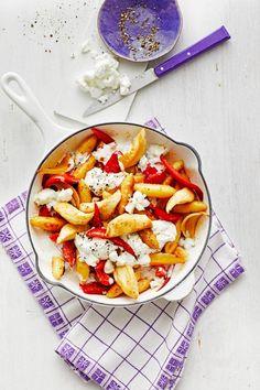Schupfnudelpfanne mit Gemüse und Mozzarella