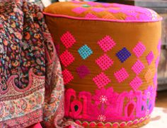 I pinned this from the Helling & Galos - Bold Embroidered Pillows & Ottomans event at Joss & Main!