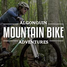 Algonquin Park has ample terrain to hit the trails by bike. Check out our blog… Algonquin Park, Mountain Bike Trails, Us Map, Topographic Map, New Adventures, Pathways, Ontario, How To Find Out, Cottage