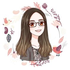 Custom digital anime portrait, cartoon portrait, caricatures, illustrations from photo, Cute personalized gift for family/friends to print. Cartoon Girl Images, Cartoon Girl Drawing, Girl Cartoon, Cartoon Art, Art Anime Fille, Anime Art Girl, Dibujos Zentangle Art, Art Mignon, Disney Princess Coloring Pages