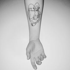 My work 'Let go with the flow' was bought as a tattoo design by @annab1ack #oneline #salventius #tattoo