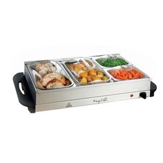 Triple Slow Cooker, Portable Food, Buffet Server, Chafing Dishes, Ideas Para Organizar, Serving Table, Party Buffet, Party Trays, Food Containers