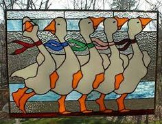 Image result for goose stained glass