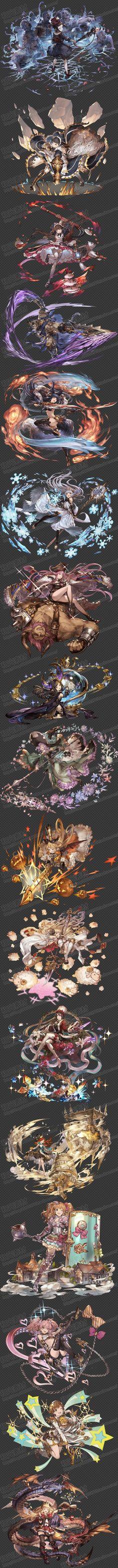 游戏原画素材/碧蓝幻想画集立绘/人物角色设定/怪物/场景/PNG透明-淘宝网全球站