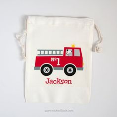 Firetruck Favor BagsFiretruck Party Favors by nickwilljack on Etsy, $3.00