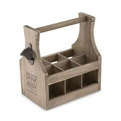 Give your favorite beer connoisseur something they will use, this Wooden Beer Bottle Caddy With Opener has space for 6 of their favorite beers or soda bottles. Make it personal by...