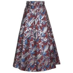 Pinko Pisolo Jacquard Skirt ($445) ❤ liked on Polyvore featuring skirts, floral print skirt, full skirt, full floral skirt, floral skirt and floral printed skirt
