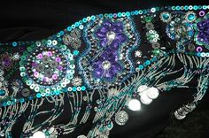 Nice sequined flowers - belt by PoisonBabe