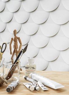 View the entire Eco Wallpaper collection and more on the Rockett St George website. Minimal Wallpaper, Lit Wallpaper, Unique Wallpaper, Pattern Wallpaper, Rockett St George, Paper Vase, Sketch Paper, Wall Treatments, Pattern Paper