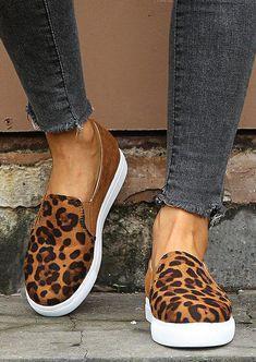 Leopard Print Slip On Sneakers, Leopard Print Loafers, Slip On Shoes, Women's Shoes, Leopard Heels Outfit, Flat Shoes Outfit, Leopard Sandals, Platform Shoes, Shoes 2018