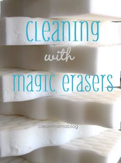 Cleaning with Magic Erasers, oh the many ways!