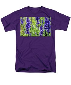 Blue Salvia Men's T-Shirt (Regular Fit) featuring the photograph Mystic Spires Blue by Cynthia Guinn
