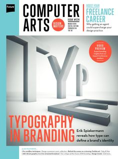 #ComputerArts Magazine 224. #Typography in #branding. Boost your #freelance career.