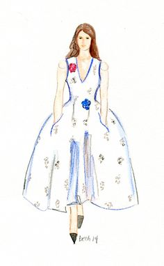 """""""Happiness is the secret to all beauty. There is no beauty without happiness….."""" Christian Dior sunday quote - beth briggs.com #Dior #fashionillustration #couture"""