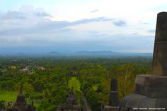 Stone gate on Borobudur Temple.
