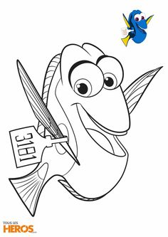 Coloring Sheets Pages Books Finding Nemo Dory Kid Crafts For Kids Father Drawings