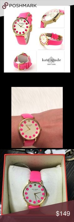 Kate Spade Bazooka Pink Dot Watch Authentic KSNY watch, brand new with tags still on, never worn. kate spade Accessories Watches