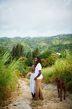 """Lisa and Chris Binns, owners of Stush in the Bush, at Zionites Farm (stush means """"stylish"""" in the local patois)."""