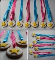 Cookie Medals made by Belgravia Bakery Gymnastics Birthday Cakes, Gymnastics Party, Gymnastics Gifts, Birthday Party For Teens, Little Girl Birthday, Birthday Party Decorations, 2nd Birthday, Birthday Ideas, Cheerleading Cake
