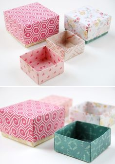 Every single one of us have our own idea of what's beautiful, stylish, comfortable or functional, but you have to admit – whatever we make ourselves is automatically so much cooler! Diy Craft Projects, Project Ideas, Projects To Try, Diy Crafts, Origami Gift Box, Diy Origami, Diy Paper, Paper Crafts, Diy Ideas