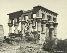 old vintage photos of egypt 1870-1875 (29)  Phylae the Booth