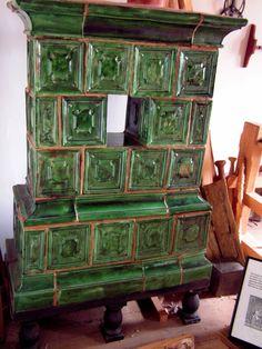 Old Salem - Ceramic block stove - photo taken 2007.