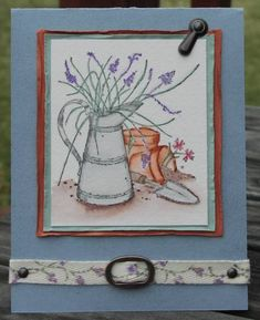 Watercolor twill by LodiChick - Cards and Paper Crafts at Splitcoaststampers Split Coast Stampers, Long Time Friends, Stamp Sets, Flower Cards, Watercolor Paper, I Card, Stamping, Card Making, Sketches