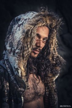 White & Bronze Tribal Warrior Sequin Vest with Faux Fur-Black Light Reactive Burning Man Festival Co Viking Men, Viking Warrior Men, Tribal Warrior, Festival Costumes, Teal And Gold, Burning Man, Beautiful Men, Sequins, Long Hair Styles